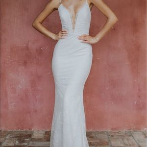 Katie May white gown